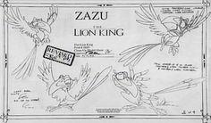 Lion king concept art character zazu