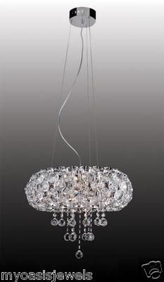 Contemporary Modern Crystal Chandelier Ceiling Lamp Light Fixture European Style