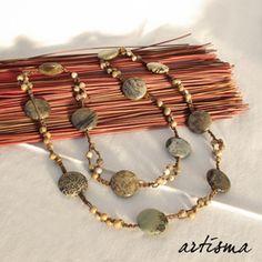*Wunderschöne lange Kette mit Jaspis-Steinen*