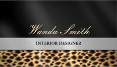 Business cards leopard print choice image card design and card impress new clients and customers with this cosmetology business a modern animal print interior design business reheart Images