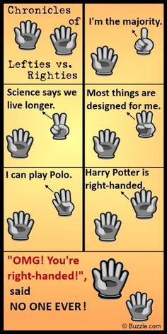 Facts about left-handedness that everyone THINKS they know and the ones they don't.