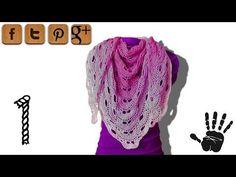 Virus shawl crochet tutorial part 1 - Woolpedia® - YouTube