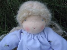 Waldorf Doll 12 Inch Girl Natural Doll With by LittleElfsToyshop, $95.00
