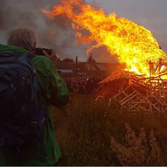 """ITAP last june of the tradition fire during the danish holiday """"Sankt Hans"""""""