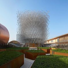 the UK pavilion presents a giant aluminium beehive at expo milan 2015 http://ift.tt/1JVBNA6 #design