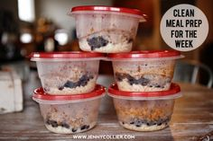 clean eating meal prep---This girl is awesome!! Check out her list of her 20 favorite clean eating meals