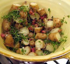 Anya potatoes & cress