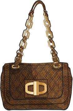 brown, small handbag with golden chain handle Bag Illustration, Flat Sketches, Fashion Patterns, Small Handbags, Fashion Flats, My Bags, Designer Handbags, Satchel, Perfume