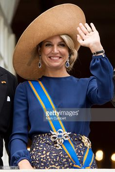 Queen Maxima of the Netherlands on the balcony of The Noordeinde Palace during Princes Day on September 20 2016 in The Hague Netherlands
