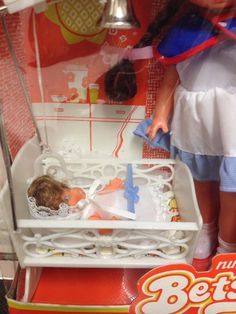 Vintage Window Boxed Nursery Betsy Nurse Doll With Baby And Cradle | eBay