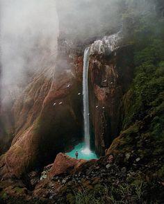 Penimbungan Falls, Rinjani National Park, Torean, North Lombok Indonesia // @andybachtiar_ retouched by @pevypev