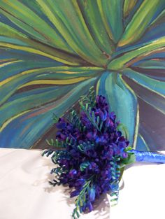 Patricia's Blue Orchid Tropical Bridal by ArtisticFloralDesign