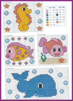 O que você procura? Cross Stitch Sea, Cross Stitch For Kids, Cross Stitch Cards, Cross Stitch Animals, Cross Stitching, Cross Stitch Embroidery, Hand Embroidery, Cross Stitch Designs, Cross Stitch Patterns