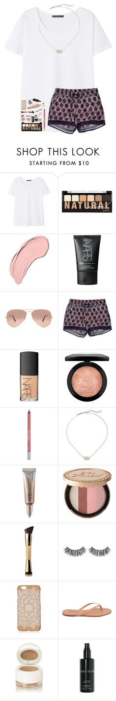 """Rtd!"" by southern-belle606 ❤ liked on Polyvore featuring MANGO, NYX, NARS Cosmetics, Ray-Ban, Timeout, MAC Cosmetics, Urban Decay, Kendra Scott, Too Faced Cosmetics and tarte"