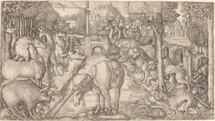 Jean Duvet, 'The Unicorn Purifies the Water with Its Horn,' probably c. 1555/1561, National Gallery of Art, Washington D.C.