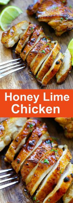 Honey Lime Chicken – crazy delicious chicken with honey lime. The BEST chicken., Lime Chicken – crazy delicious chicken with honey lime. The BEST chicken that you can make for your family, takes only 20 mins Comida Diy, Honey Lime Chicken, Low Carb Chicken Recipes, Chicken Recipes With Honey, Honey Baked Chicken, Garlic Chicken, Good Food, Yummy Food, Delicious Recipes