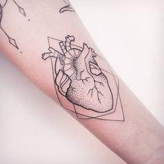 Anatomical Heart Tattoo by Melina Wendlandt