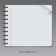 Página del cuaderno del vector | Free Vector #Freepik #freevector #textura #papel #cuaderno #textura-papel