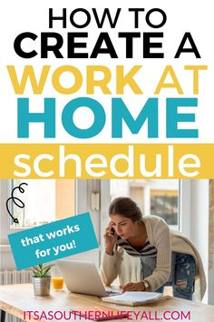 Create a work at home schedule to balance your work and life daily. Need to stay home and work, create a work at home schedule that works for you. Be your most productive self with proper time management when you work from home. Amazon Work From Home, Work From Home Tips, Vintage Chic, Work Productivity, Ideas Para Organizar, Time Management Tips, Brand Management, Busy At Work, Home Based Business