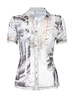 Bluse mit All-Over-Muster | FASHION ID Online Shop