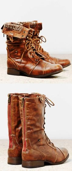 American eagle lace up leather boots