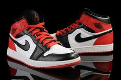 Homme Nike Air Jordan 1 Noir/Blanc