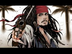 Cartoonized Jack Sparrow(From the Pirates of the Caribbean movies)