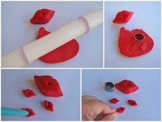 valentines day fondant cupcake topper tutorial