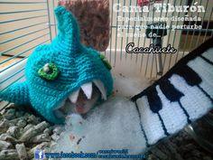 Cama tiburón para hamster. Para que nada ni nadie se atreva a perturbar sus sueños  www.facebook.com/vasniworld www.facebook.com/cacahuete.hamster