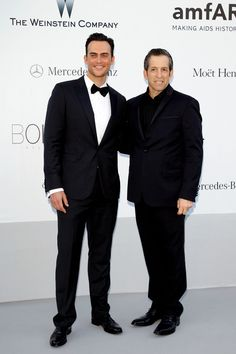 (L-R) amfAR Chairman Kenneth Cole and actor Cheyenne Jackson arrive at the 2012 amfAR's Cinema Against AIDS during the 65th Annual Cannes Film Festival at Hotel Du Cap on May 24, 2012 in Cap D'Antibes, France.