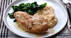 Chicken with Creamy Polenta, Broccoli Rabe and White Truffle Au Jus