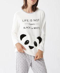 Maglietta panda - null - Tendenze moda donna AW 2016 su Oysho on-line : biancheria intima, lingerie, abbigliamento sportivo, scarpe, accessori e costumi da bagno.