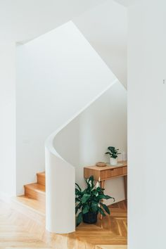 staircase with beautiful curve