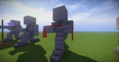 08 - Small Kneeling Statues easy build for miencraft ideas