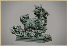 ArtStation - Kirin -zbrushrender,W.I.P&test render, Zhelong XU