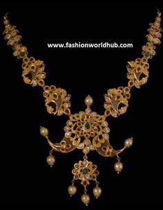 Puligoru Pacchi Necklace | Fashionworldhub