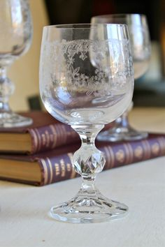 Etched Mini Wine Glasses