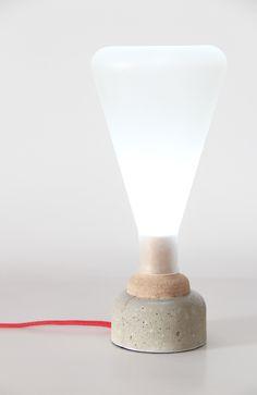 Juna Lamp Concrete & Cork on Behance