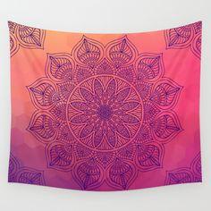 Happy Mandala Wall Tapestry by Mantra Mandala - $39.00