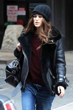 Photos via: WCM When it comes to cozy coats, nothing beats shearling. The fluffy material continues to blanket outerwear for F/W 2016, from floor sweeping coats to shorter styles. Actress Keira Knight