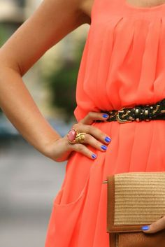 Orange, This dress is super cute! Love the pockets! Would be perfect if it's long... :)