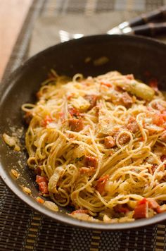 Skillet Pasta with Sausage and Parmesan   Heart Mind & Seoul