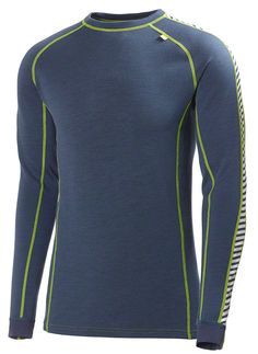 Helly Hansen Mens Warm Ice Baselayer Crew Top: Deep Steel