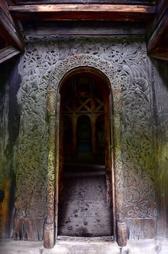 West Door, Borgund Stave Church, Norway. Dated roughly 1150 AD.