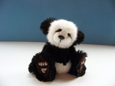 Darby, An Upcycled Mink Fur Artist Jointed Teddy Bear Cub OOAK- on Etsy, $249.99