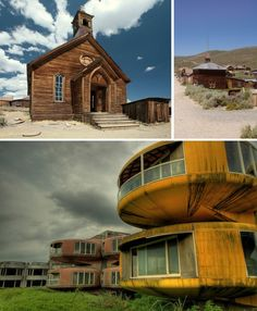 """It's tempting to think of the Wild West when ghost towns come to mind, but there are many other abandoned towns and even cities across the world. From old west ghost towns like Bodie, Rhyolite and Calico to the abandoned Sanzhi """"UFO"""" resort in Taiwan, urban explorers have long enjoyed spelunking the ruins of entire forgotten settlements."""