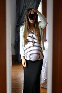 Pregnancy Diary // Pregnancy Fashion // Simplymylife.com. Again, I just like the stripes...