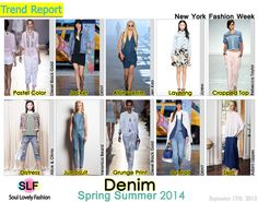 Denim Fashion Trend for Spring Summer 2014 at New York Fashion Week. More Denim Fashion Trend for Spring Summer 2014. More Fashion Trends fo...
