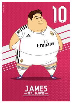 Fat Players: Real Madrid | The Five Gladiators on Behance Football Is Life, Football Gif, James Rodriguez, Real Madrid Shirt, Bale Real, Soccer Gifs, Ronaldo Real Madrid, Toni Kroos, Football Stickers