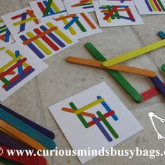 Curious Minds Busy Bags ~~ Busy bags are self-contained educational toys and Montessori - inspired learning games that are easy to pack or pull out when you to play with and teach your toddler or preschooler. Just pull out the busy bag and let your children have fun.